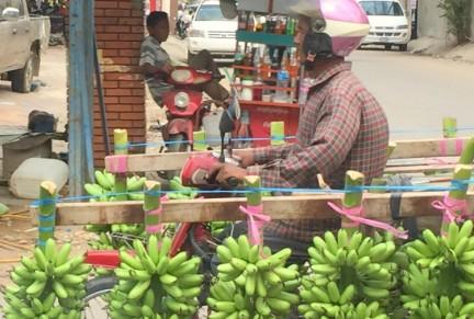 Banana transport in Phnom Penh