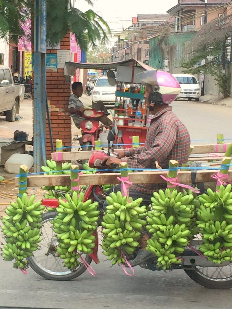 Banana transport in Phnom Penh