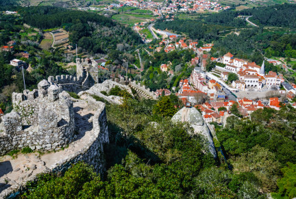 Arabs built the Castelo dos Mouros in the 8th century near Sintra - Emi Cristea/Shutterstock
