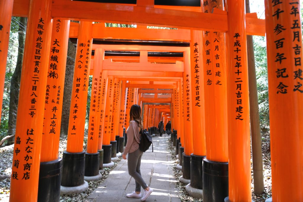 Red tori gates at Fushimni Inari Shrine